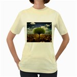 4-908-Desktopography1 Women s Yellow T-Shirt