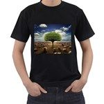 4-908-Desktopography1 Black T-Shirt