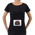 5-110-1024x768_3D_008 Maternity Black T-Shirt
