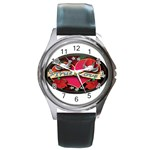 True-Love-Tattoo-Belt-Buckle Round Metal Watch