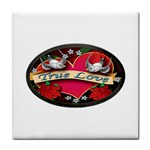 True-Love-Tattoo-Belt-Buckle Tile Coaster