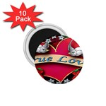True-Love-Tattoo-Belt-Buckle 1.75  Magnet (10 pack)