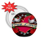 True-Love-Tattoo-Belt-Buckle 2.25  Button (10 pack)