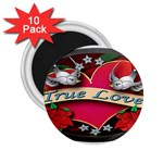 True-Love-Tattoo-Belt-Buckle 2.25  Magnet (10 pack)
