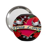 True-Love-Tattoo-Belt-Buckle 2.25  Handbag Mirror