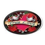 True-Love-Tattoo-Belt-Buckle Magnet (Oval)