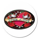 True-Love-Tattoo-Belt-Buckle Magnet 5  (Round)