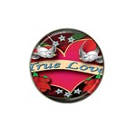 True-Love-Tattoo-Belt-Buckle Hat Clip Ball Marker (4 pack)