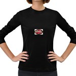 True-Love-Tattoo-Belt-Buckle Women s Long Sleeve Dark T-Shirt