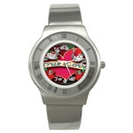 True-Love-Tattoo-Belt-Buckle Stainless Steel Watch