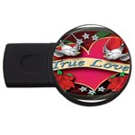 True-Love-Tattoo-Belt-Buckle USB Flash Drive Round (4 GB)