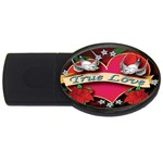 True-Love-Tattoo-Belt-Buckle USB Flash Drive Oval (4 GB)