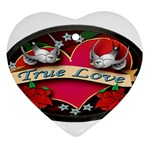 True-Love-Tattoo-Belt-Buckle Heart Ornament (Two Sides)