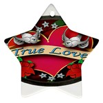 True-Love-Tattoo-Belt-Buckle Star Ornament (Two Sides)