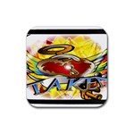 Taken-Tattoo-Belt-Buckle Rubber Square Coaster (4 pack)