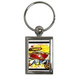 Taken-Tattoo-Belt-Buckle Key Chain (Rectangle)