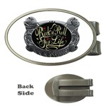 Rock-n-Roll-For-Life-Tattoo-Belt-Buckle Money Clip (Oval)