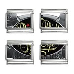 Rock-n-Roll-For-Life-Tattoo-Belt-Buckle 9mm Italian Charm (4 pack)