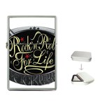 Rock-n-Roll-For-Life-Tattoo-Belt-Buckle Flip Top Lighter