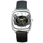 Rock-n-Roll-For-Life-Tattoo-Belt-Buckle Square Metal Watch