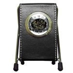 Rock-n-Roll-For-Life-Tattoo-Belt-Buckle Pen Holder Desk Clock