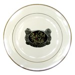 Rock-n-Roll-For-Life-Tattoo-Belt-Buckle Porcelain Plate