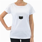 Rock-n-Roll-For-Life-Tattoo-Belt-Buckle Maternity White T-Shirt
