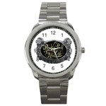 Rock-n-Roll-For-Life-Tattoo-Belt-Buckle Sport Metal Watch
