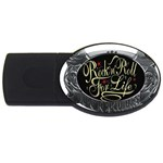 Rock-n-Roll-For-Life-Tattoo-Belt-Buckle USB Flash Drive Oval (4 GB)