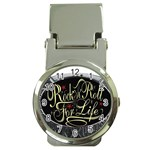 Rock-n-Roll-For-Life-Tattoo-Belt-Buckle Money Clip Watch