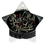 Rock-n-Roll-For-Life-Tattoo-Belt-Buckle Star Ornament (Two Sides)