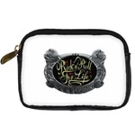 Rock-n-Roll-For-Life-Tattoo-Belt-Buckle Digital Camera Leather Case