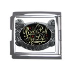 Rock-n-Roll-For-Life-Tattoo-Belt-Buckle Mega Link Italian Charm (18mm)