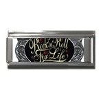 Rock-n-Roll-For-Life-Tattoo-Belt-Buckle Superlink Italian Charm (9mm)