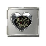 Rock-n-Roll-For-Life-Tattoo-Belt-Buckle Mega Link Heart Italian Charm (18mm)