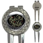 Rock-n-Roll-For-Life-Tattoo-Belt-Buckle 3-in-1 Golf Divot