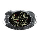 Rock-n-Roll-For-Life-Tattoo-Belt-Buckle Magnet (Oval)