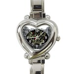 Rock-n-Roll-For-Life-Tattoo-Belt-Buckle Heart Italian Charm Watch