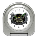 Rock-n-Roll-For-Life-Tattoo-Belt-Buckle Travel Alarm Clock