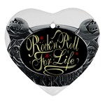 Rock-n-Roll-For-Life-Tattoo-Belt-Buckle Ornament (Heart)