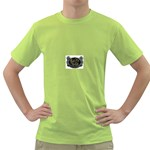 Rock-n-Roll-For-Life-Tattoo-Belt-Buckle Green T-Shirt