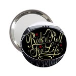 Rock-n-Roll-For-Life-Tattoo-Belt-Buckle 2.25  Handbag Mirror