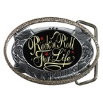 Rock-n-Roll-For-Life-Tattoo-Belt-Buckle Belt Buckle