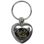 Rock-n-Roll-For-Life-Tattoo-Belt-Buckle Key Chain (Heart)