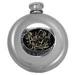 Rock-n-Roll-For-Life-Tattoo-Belt-Buckle Hip Flask (5 oz)