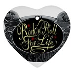 Rock-n-Roll-For-Life-Tattoo-Belt-Buckle Heart Ornament (Two Sides)
