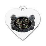 Rock-n-Roll-For-Life-Tattoo-Belt-Buckle Dog Tag Heart (Two Sides)