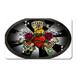 Oval-Black-Mind_-Body-and-Soul-Tattoo-Belt-Buckle Magnet (Rectangular)