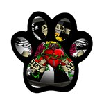 Oval-Black-Mind_-Body-and-Soul-Tattoo-Belt-Buckle Magnet (Paw Print)