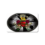 Oval-Black-Mind_-Body-and-Soul-Tattoo-Belt-Buckle Magnet (Name Card)